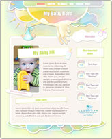 iWeb Template: Baby Album theme